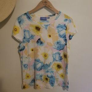 Simply Vera Floral Water Color Tshirt
